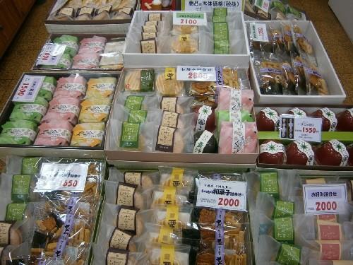 和菓子のご進物品コーナー